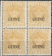 """PORTUGUESE GUINEA, 1885, «CROWN» TYPE, CE#22, 40 R., W/ ERROR """"MOZAMBIQUE"""", MH - Guinée Portugaise"""