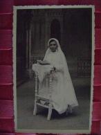 CARTE PHOTO DE COMMUNIANTE  DU 17 JUILLET 1936 A VALMONDAY? - Persone Anonimi