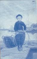 #4068 Artist Signed, Old UPU Postcard Unused: Boy With Hoop, By Johan Georg Gerstenhauer - Schilderijen