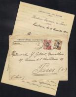 INDOCHINE - LAOS - VIENTIANE / 1927 LETTRE DE LA  RESIDENCE SUPERIEURE AU LAOS  POUR PARIS (ref 6279cE) - Briefe U. Dokumente