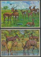 Rwanda - Blocs 44/45 (BL44/45) - Non dentel� - Imperforated - Antilopes - 1975 - MNH