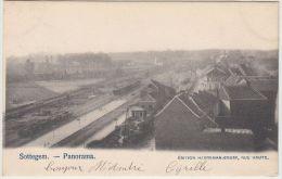 25012g  GARE - TRAIN - CHEMIN De FER - PANORAMA - Sottegem - 1903 - Zottegem