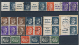 Lot Deutsches Reich ZD Hitler gestempelt used