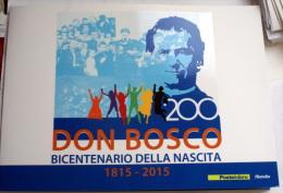 ITALY  2015 - 200TH ANNIVERSARY BIRTDAY DON BOSCO,   OFFICIAL FOLDER POSTE ITALIANE - 6. 1946-.. Repubblica