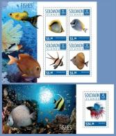 slm14713ab Solomon Is. 2014 Fishes  2 s/s
