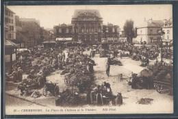 - CPA 50 - Cherbourg, La Place Du Château Et Le Théâtre - Cherbourg