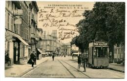 CPA   51  :  EPERNAY  Station  CBR  Du Jard Avec Commerces    A   VOIR   !!! - Epernay
