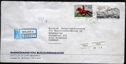 Iceland  1998   Registered  Letter To Denmark Minr.584,663 ( Lot 2271 ) - 1944-... Republique