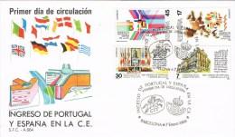12876. Carta F.D.C. Barcelona  1986. Ingreso España Y Portugal En C.E., Comunidad Europea - FDC