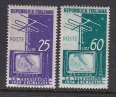 Italy 1954 Television Mint Never Hinged - 1946-60: Mint/hinged