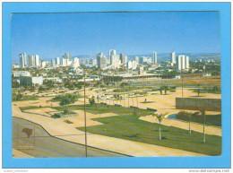 CARTE POSTALE POSTAL POSTCARD BRAZIL BRASIL BRÉSIL GOIÂNIA PRAÇA UNIVERSITÁRIA UNIVERSITY SQUARE 1970s - Goiânia