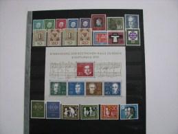 Bund-1959-Mi.302-325 + Block 2 postfr.Mi.65 Euro.Siehe Abbildung