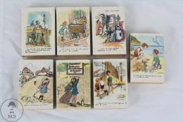 Vintage Collection Of France Matchboxes - Année De L´Enfance / Year Of Childhood By Francisque Poulbot - Cajas De Cerillas (fósforos)