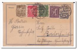Poststempel Giessen 1923, Postkarte - Briefe U. Dokumente
