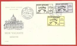 BUSTA NV FDC VATICANO ECCLESIA - 1958 - Sede Vacante - 21 - 10 - 58 - FDC