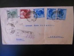 Roumanie Lettre Recommande De Timisoara 1938 Pour Lugano ,joli Affranchissement  (un Plis ) - Covers & Documents