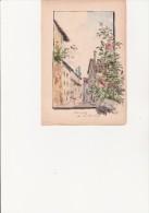 PETITE  AQUARELLE DE GUSTAVE KARCHER- PEINTRE PAYSAGISTE - XIX E - Autres Collections