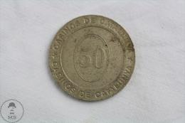 Casinos Of Catalonia Jeton / Chip / Token / Gettone / Fiche - 50 Value - Casino