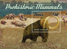 Nevis-2015-Fauna-Prehistoric Mammals - Stamps