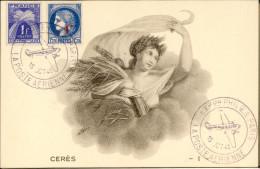 Cachet Poste Aérienne - Expo Phil. Paris 15 Oct 1943 - Maximum Cards