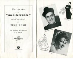 PARIS Le Chatelet Opérette MEDITERRANEE Tino Rossi  Fernand Sardou  Vers 1955 Programme - Theatre, Fancy Dresses & Costumes