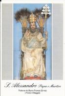 S. ALESSANDRO PAPA E M. - PATRONO DI BARRA FRANCA  (EN) -  Mm. 75X110 - SANTINO MODERNO - Religione & Esoterismo