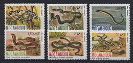 MOZAMBIQUE 1982, SERPENTS, 6 Valeurs, Neufs / Mint. R205 - Reptiles & Batraciens