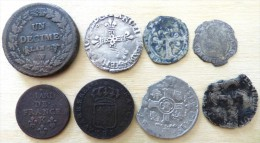 LOT  8 MONNAIES A DEFINIR - 987-1789 Monete Reali