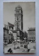 12  - Cpsm Petit Format - RODEZ - Place De La Cité Et Le Clocher - Rodez