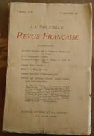 La Nouvelle Revue Française N°25 - Livres, BD, Revues