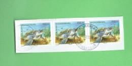 timbre oblit�re de madagascar 2014 bloc de 3 timbres