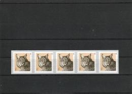 2015 USA Coil Bob Cat  Strip Of 5 -- MNH (**) - Coils & Coil Singles