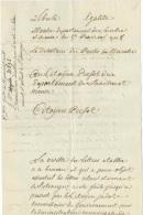Doc. An 8  du directeur des postes de Marche : demande de directives pour la visite des lettres de et pour l'�tranger...
