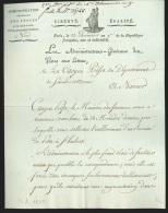 Doc an 9 de l'adm. G�n�rale des postes de Paris concernant l'�tablissement d'une poste � St. HUBERT …