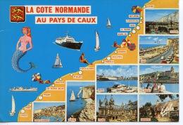 La Côte Normande : Au Pays De Caux (géographique Multivues) Cayeux à étretat N°548 Estel - France