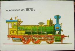 Steam Locomotive G3 - 1989 - Printed In Bulgaria - Tamaño Pequeño : 1981-90