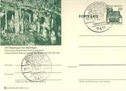 519  Grotte Genkingen, Allemagne: entier (c.p.) + oblit. concordante - Cave, Speleology Stationery pc & pictorial ca