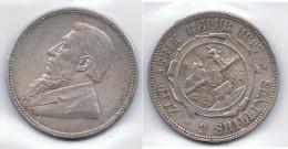 SUDAFRICA ZUID AFRIK 2 SHILLINGS 1887 PLATA SILVER - Sudáfrica