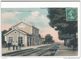 70 JUSSEY INTERIEUR DE LA GARE CPA BON ETAT - Gares - Sans Trains