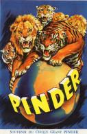 AFFICHETTE PUBLICITE PINDER  Souvenir Du Cirque Géant Pinder  L - Publicités