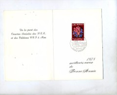 Carte Voeu Fdc 1977 Bouquet - FDC