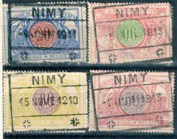 _5Sb-896: NIMY : 4 Verschillende Waarden/stempels Van De Uitgifte 1902-14 - 1895-1913