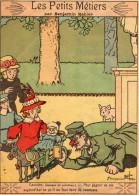 IMAGE  LES PETITS METIERS  Par Benjamin Rabier   L - Old Paper