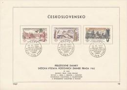 Czechoslovakia / First day sheet (1961/18) Praha (a): Stamp 2 Kcs - City Ostrava, New high smelters Klement Gottwald