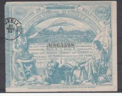 Billet de loterie  1888