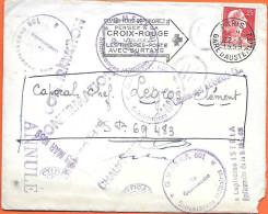 Lettre Expédiée En Allemagne SP 69.483 Avec Multiples Cachets Du Secteur Postal - Militärstempel Ab 1900 (ausser Kriegszeiten)