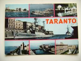 TARANTO   NAVE   SHIP   MARINA  MILITARE  WARSHIP  VIAGGIATA COME DA FOTO - Guerra