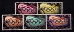 YEMEN 1960 - JUEGOS OLIMPICOS DE ROMA - YVERT Nº 84-88 - Yemen