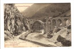LA VALLEE D´ASPE - PYRENEES ATLANTIQUES - PONT D'ESCOT - LE TRANSPYRENEEN - LIGNE DE CHEMIN DE FER - France