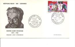 Prix Nobel -Schweitzer ( FDC Du Congo Brazzaville De 1966 à Voir) - Nobel Prize Laureates